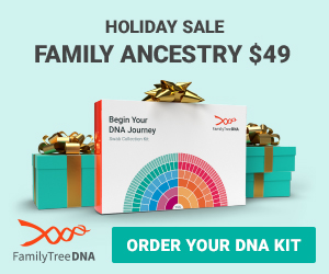 FamilyTreeDNA Holiday Sale - Family Finder Only $49